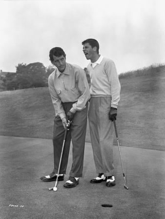 Dean Martin and Jerry Lewis standing Classic Portrait