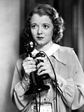 Janet Gaynor Holding A Vintage Radio Microphone Portrait