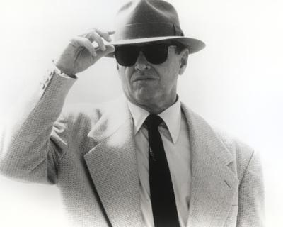 Jack Nicholson in White Formal Outfit With Eye Glasses