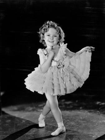 Shirley Temple Posed in Ballet Outfit Classic Portrait