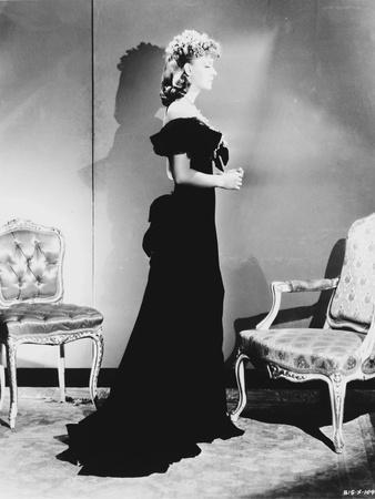 Greta Garbo in a Gown and Facing to the side Portrait