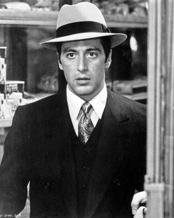 Al Pacino Looking Shocked in Formal Outfit Black and White