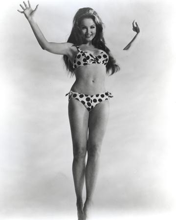 Julie Newmar Posed wearing polka dot Lingerie Portrait