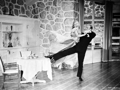 Fred Astaire and Ginger Rogers Dancing in Gown and Suit