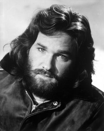 Kurt Russell Posed in Leather Jacket With White Background
