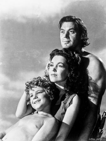Johnny Weissmuller Leaning with Each Other in a Portrait
