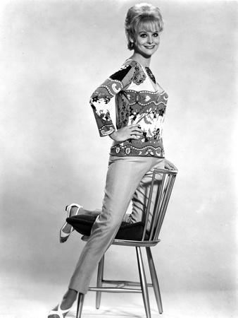 Diane McBain Classic Portrait wearing Floral Dress