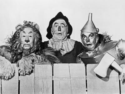 Wizard Of Oz Portrait Coward Lion, Scarecrow and Tinman