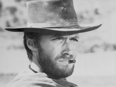 Clint Eastwood Fighting Stunts in Topless Portrait