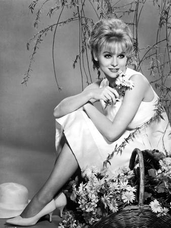 Diane McBain Classic Portrait wearing White Dress