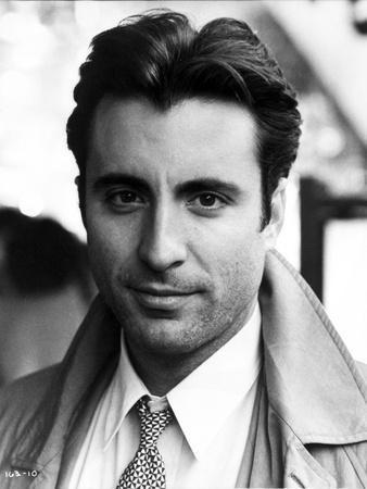 Andy Garcia in Coat With Black and White Background