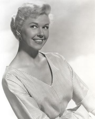 Doris Day Portrait in Classic with Stripes Dress