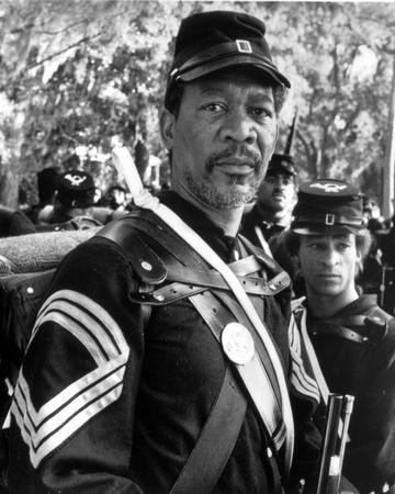 Morgan Freeman Posed in Military Uniform With Cap