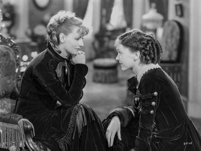 Greta Garbo Ladies in Black During a Movie Scene