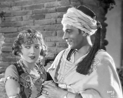 Rudolph Valentino Portrait in White Arabic Costume
