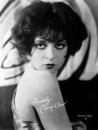 Clara Bow Posed in Tank top with Dark lipstick