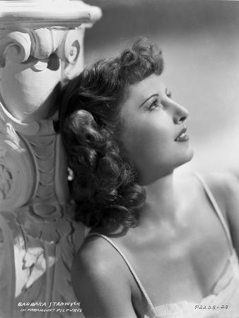 Barbara Stanwyck Day Dreaming Classic Portrait