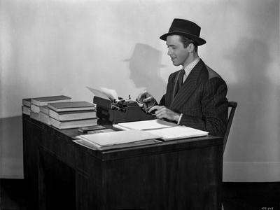 James Stewart Working in Desk Classic Portrait