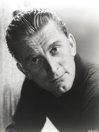 Kirk Douglas in Black Sweater Close Up Portrait