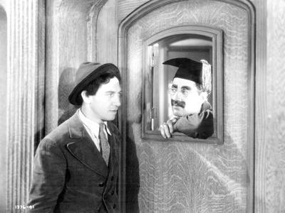 Marx Brothers Scene of a Man Staring a Painting