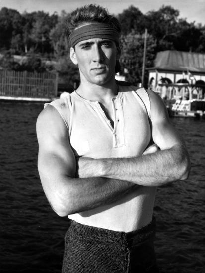 8a817ac6575cf Nicolas Cage in Tank top Portrait With Headband Photo by Movie Star News at  AllPosters.com