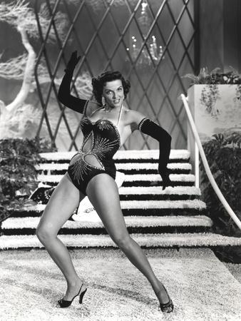 Jane Russell Posed in Lingerie Black and White