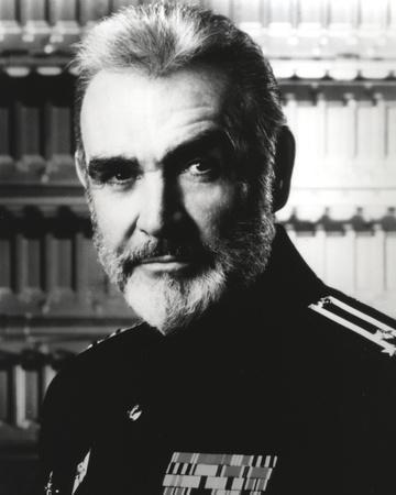 Sean Connery in General Uniform Black and White