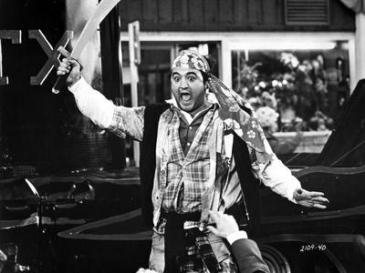 John Belushi in Pirate Outfit With Sharp Sword