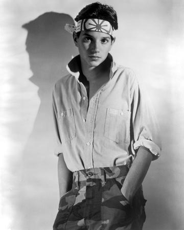 Ralph Macchio Posed in White Polo With Headband