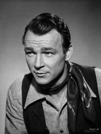 Roy Rogers posed in Portrait in Black and White