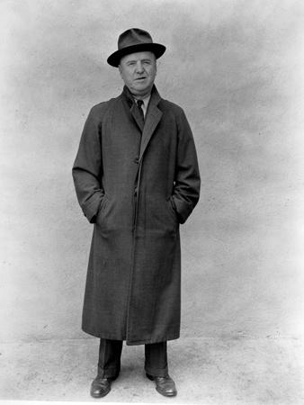 William Frawley in Black Coat With Hat Portrait
