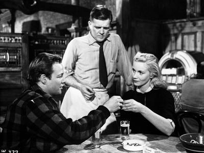 Marlon Brando Talking to a Girl with a Waiter