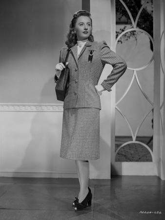 Barbara Stanwyck Posed in Office Outfit Porrait