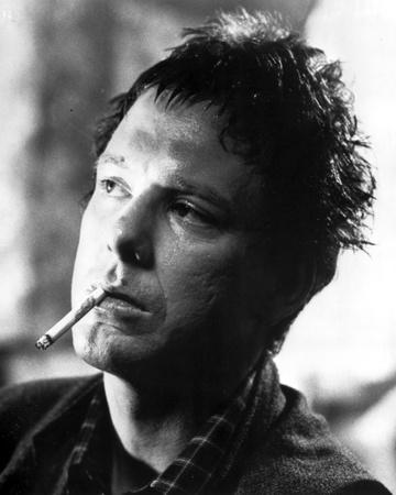 Mickey Rourke Close Up Portrait With Cigarette
