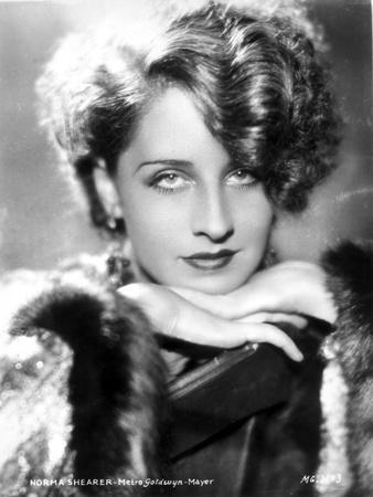 Norma Shearer Leaning Chin On Hand in Classic