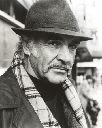 Sean Connery with Hat Black and White Portrait