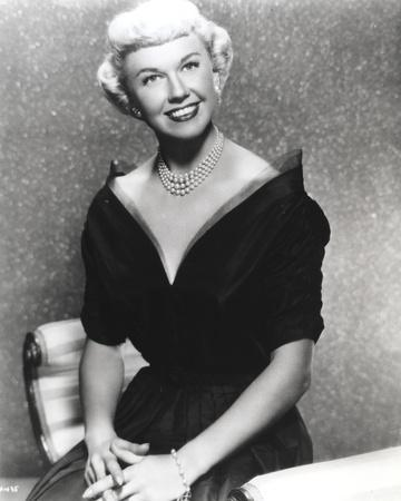 Doris Day Seated in Classic with Black Gown