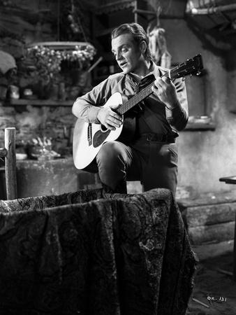 James Cagney Playing Guitar Classic Portrait