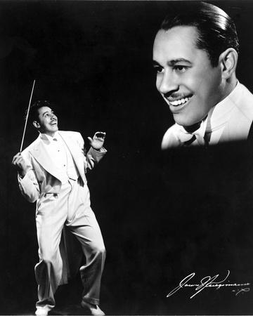 Cab Calloway in White With Black Background