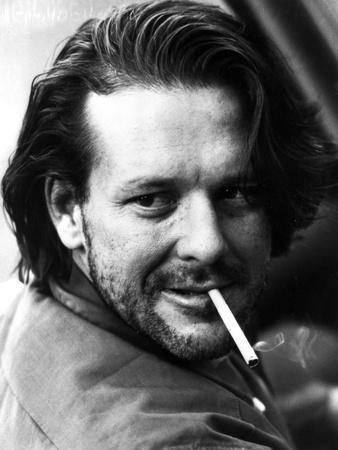 Mickey Rourke Close Up Portra With Cigarette