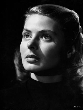 Ingrid Bergman Looking Up in Close Up Angle