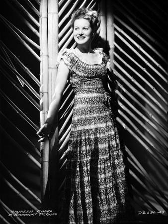 Maureen O'Hara Posed in Black Dress Portrait