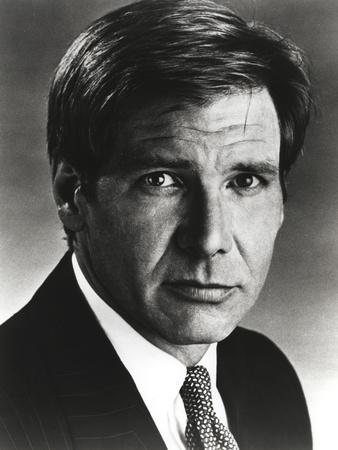 Harrison Ford in a Black Suit with a Necktie