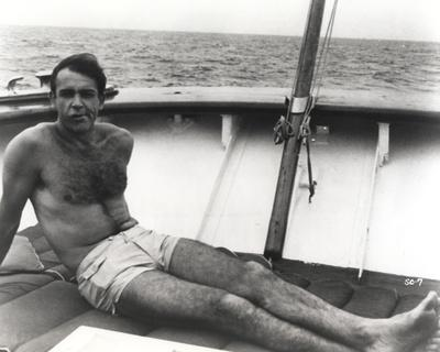 Sean Connery Reclining in Black and White