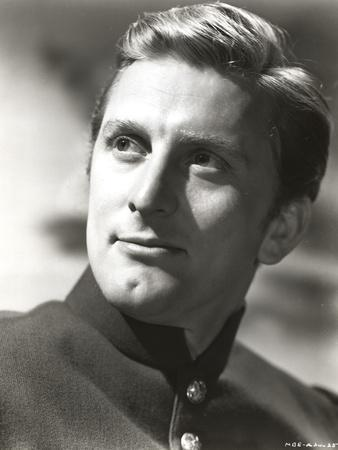 Kirk Douglas Black and White Close Portrait