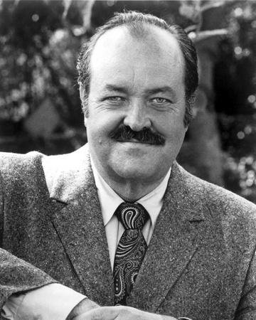 William Conrad Posed in Coat With Necktie