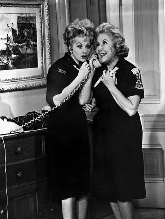 Lucille Ball with Woman wearing Black Dress