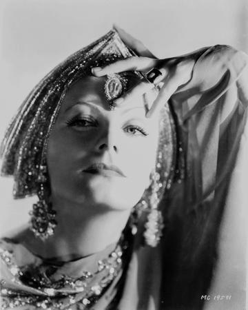 Greta Garbo wearing Indian Outfit Portrait
