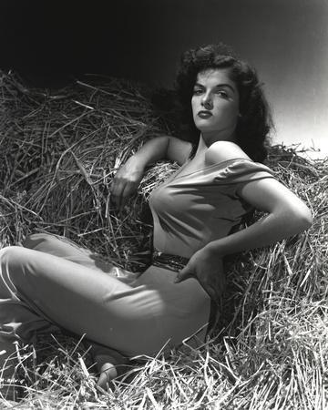 Jane Russell Posed on Horse House Portrait