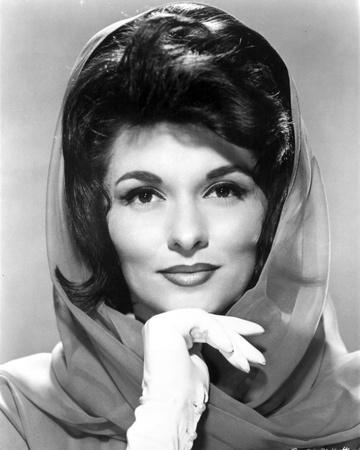 Nancy Kovack Portrait in Shawl with Gloves